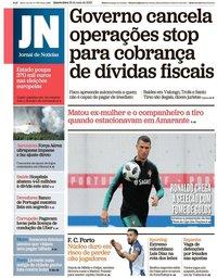 capa Jornal de Notícias de 29 maio 2019