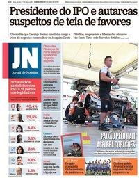 capa Jornal de Notícias de 30 maio 2019
