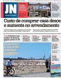 capa Jornal de Notícias de 31 maio 2019
