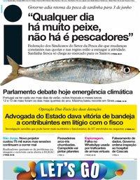 capa Jornal i de 15 maio 2019
