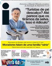capa Jornal i de 23 maio 2019