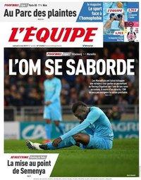 capa Jornal L'Équipe de 4 maio 2019