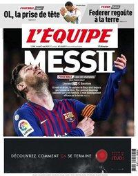 capa Jornal L'Équipe de 7 maio 2019