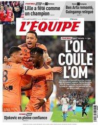 capa Jornal L'Équipe de 13 maio 2019