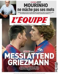 capa Jornal L'Équipe de 15 maio 2019