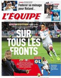 capa Jornal L'Équipe de 18 maio 2019