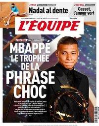 capa Jornal L'Équipe de 20 maio 2019