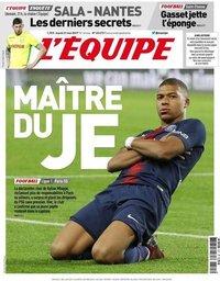 capa Jornal L'Équipe de 21 maio 2019