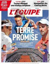 capa Jornal L'Équipe de 26 maio 2019