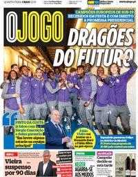 capa Jornal O Jogo de 1 maio 2019