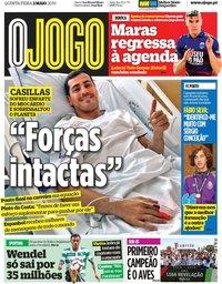 capa Jornal O Jogo de 2 maio 2019