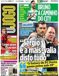 capa Jornal O Jogo de 3 maio 2019