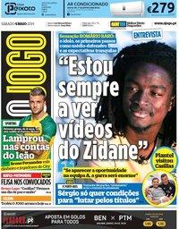 capa Jornal O Jogo de 4 maio 2019