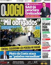 capa Jornal O Jogo de 7 maio 2019