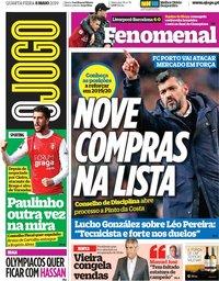capa Jornal O Jogo de 8 maio 2019