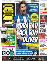 capa Jornal O Jogo de 9 maio 2019