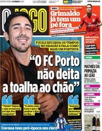 capa Jornal O Jogo de 10 maio 2019