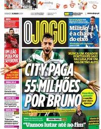 capa Jornal O Jogo de 11 maio 2019