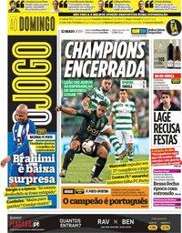 capa Jornal O Jogo de 12 maio 2019