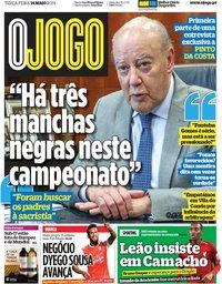 capa Jornal O Jogo de 14 maio 2019