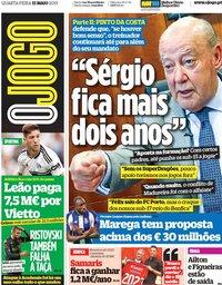 capa Jornal O Jogo de 15 maio 2019