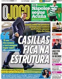 capa Jornal O Jogo de 16 maio 2019
