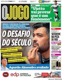 capa Jornal O Jogo de 17 maio 2019