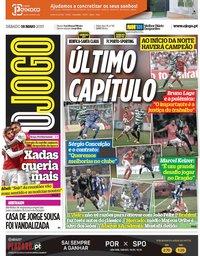 capa Jornal O Jogo de 18 maio 2019