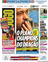 capa Jornal O Jogo de 20 maio 2019