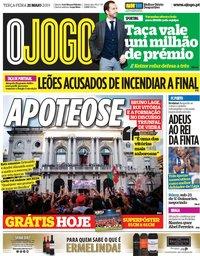 capa Jornal O Jogo de 21 maio 2019