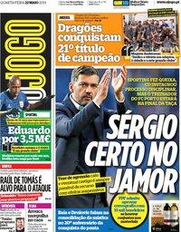 capa Jornal O Jogo de 22 maio 2019