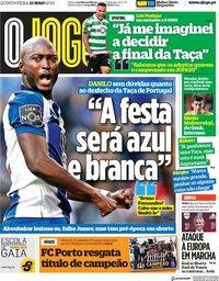 capa Jornal O Jogo de 23 maio 2019