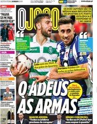 capa Jornal O Jogo de 24 maio 2019