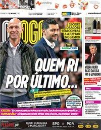 capa Jornal O Jogo de 25 maio 2019