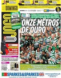 capa Jornal O Jogo de 26 maio 2019