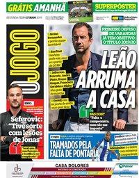 capa Jornal O Jogo de 27 maio 2019
