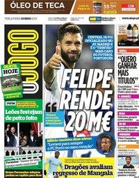 capa Jornal O Jogo de 28 maio 2019