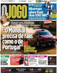 capa Jornal O Jogo de 29 maio 2019
