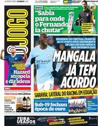 capa Jornal O Jogo de 30 maio 2019