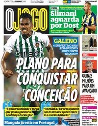capa Jornal O Jogo de 31 maio 2019