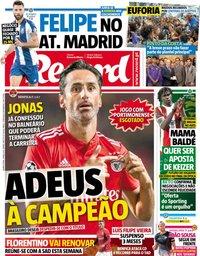 capa Jornal Record de 1 maio 2019