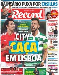 capa Jornal Record de 3 maio 2019