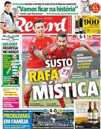 capa Jornal Record de 5 maio 2019