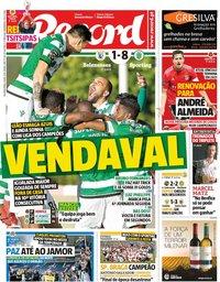 capa Jornal Record de 6 maio 2019