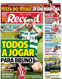 capa Jornal Record de 7 maio 2019