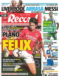 capa Jornal Record de 8 maio 2019