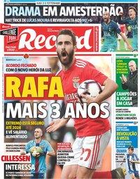 capa Jornal Record de 9 maio 2019