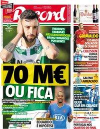 capa Jornal Record de 11 maio 2019