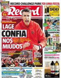 capa Jornal Record de 12 maio 2019