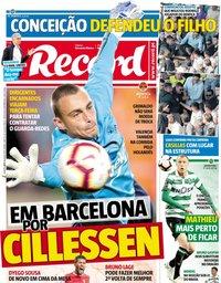capa Jornal Record de 16 maio 2019